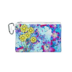 Backdrop Background Flowers Canvas Cosmetic Bag (s)