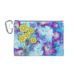 Backdrop Background Flowers Canvas Cosmetic Bag (m)