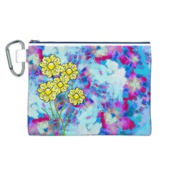 Backdrop Background Flowers Canvas Cosmetic Bag (l)