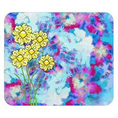 Backdrop Background Flowers Double Sided Flano Blanket (Small)