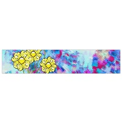 Backdrop Background Flowers Flano Scarf (small)