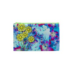 Backdrop Background Flowers Cosmetic Bag (xs)