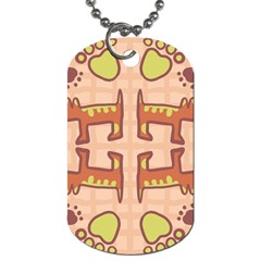 Dog Abstract Background Pattern Design Dog Tag (two Sides)