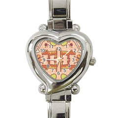 Dog Abstract Background Pattern Design Heart Italian Charm Watch