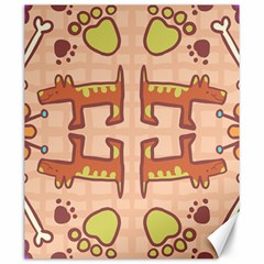 Dog Abstract Background Pattern Design Canvas 20  X 24