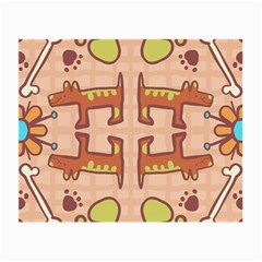 Dog Abstract Background Pattern Design Small Glasses Cloth (2 Side)