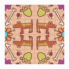 Dog Abstract Background Pattern Design Medium Glasses Cloth (2 Side)