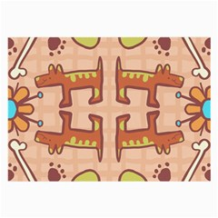 Dog Abstract Background Pattern Design Large Glasses Cloth (2 Side)