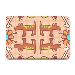 Dog Abstract Background Pattern Design Small Doormat