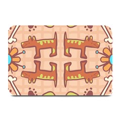 Dog Abstract Background Pattern Design Plate Mats