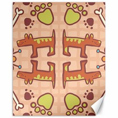 Dog Abstract Background Pattern Design Canvas 11  X 14