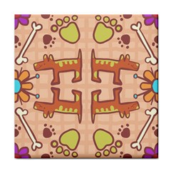 Dog Abstract Background Pattern Design Face Towel