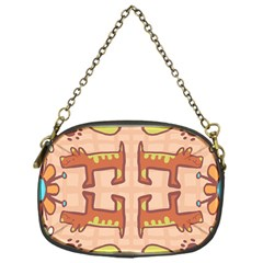 Dog Abstract Background Pattern Design Chain Purses (one Side)