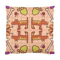 Dog Abstract Background Pattern Design Standard Cushion Case (one Side)