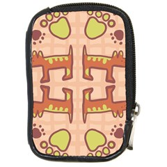Dog Abstract Background Pattern Design Compact Camera Cases