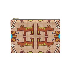 Dog Abstract Background Pattern Design Cosmetic Bag (medium)