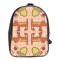 Dog Abstract Background Pattern Design School Bags(large)
