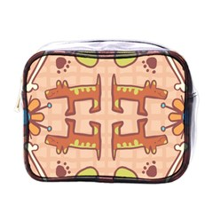 Dog Abstract Background Pattern Design Mini Toiletries Bags