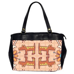 Dog Abstract Background Pattern Design Office Handbags (2 Sides)