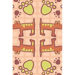 Dog Abstract Background Pattern Design 5 5  X 8 5  Notebooks
