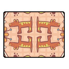 Dog Abstract Background Pattern Design Fleece Blanket (small)