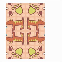 Dog Abstract Background Pattern Design Small Garden Flag (two Sides)