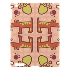 Dog Abstract Background Pattern Design Apple Ipad 3/4 Hardshell Case