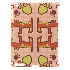 Dog Abstract Background Pattern Design Apple Ipad 3/4 Hardshell Case (compatible With Smart Cover)