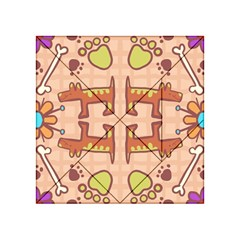 Dog Abstract Background Pattern Design Acrylic Tangram Puzzle (4  X 4 )