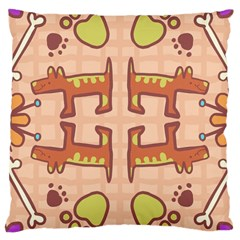 Dog Abstract Background Pattern Design Large Cushion Case (one Side)
