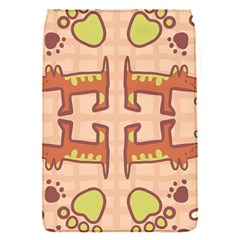 Dog Abstract Background Pattern Design Flap Covers (s)