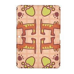 Dog Abstract Background Pattern Design Samsung Galaxy Tab 2 (10 1 ) P5100 Hardshell Case