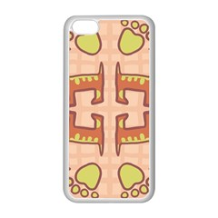 Dog Abstract Background Pattern Design Apple Iphone 5c Seamless Case (white)