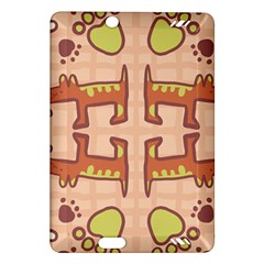 Dog Abstract Background Pattern Design Amazon Kindle Fire Hd (2013) Hardshell Case