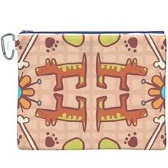 Dog Abstract Background Pattern Design Canvas Cosmetic Bag (xxxl)