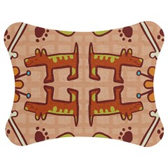 Dog Abstract Background Pattern Design Jigsaw Puzzle Photo Stand (bow)