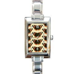 Butterfly Butterflies Insects Rectangle Italian Charm Watch