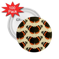Butterfly Butterflies Insects 2 25  Buttons (100 Pack)