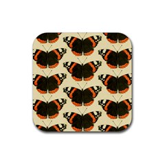 Butterfly Butterflies Insects Rubber Square Coaster (4 pack)