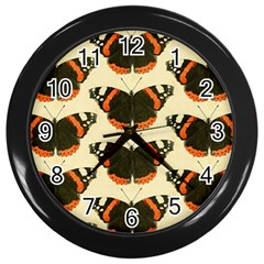 Butterfly Butterflies Insects Wall Clocks (black)