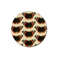 Butterfly Butterflies Insects Rubber Coaster (round)