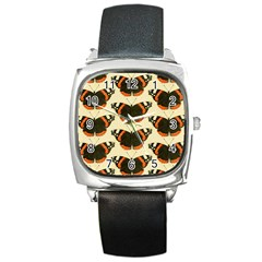 Butterfly Butterflies Insects Square Metal Watch