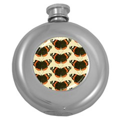 Butterfly Butterflies Insects Round Hip Flask (5 oz)