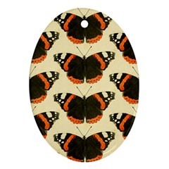 Butterfly Butterflies Insects Oval Ornament (two Sides)