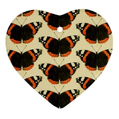 Butterfly Butterflies Insects Heart Ornament (two Sides)