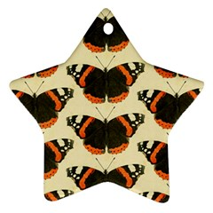 Butterfly Butterflies Insects Star Ornament (two Sides)