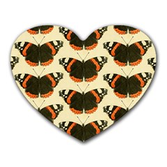 Butterfly Butterflies Insects Heart Mousepads