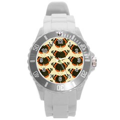 Butterfly Butterflies Insects Round Plastic Sport Watch (l)