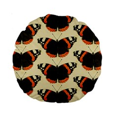 Butterfly Butterflies Insects Standard 15  Premium Round Cushions