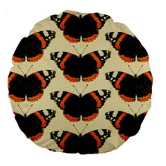 Butterfly Butterflies Insects Large 18  Premium Round Cushions